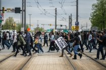 Solidarity and force at Saturday's Freddie Gray march