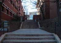 Limited handicap routes on campus deny accessibility